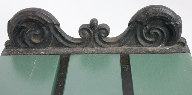 Swedish 1920s Cast Iron Park Bench Designed by Folke Bensow For Sale 9