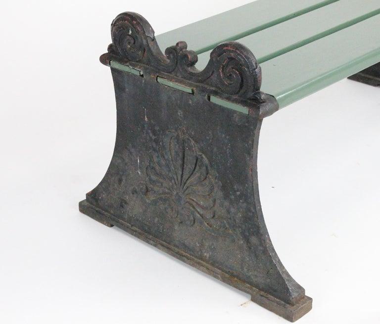 Scandinavian Modern Swedish 1920s Cast Iron Park Bench Designed by Folke Bensow For Sale