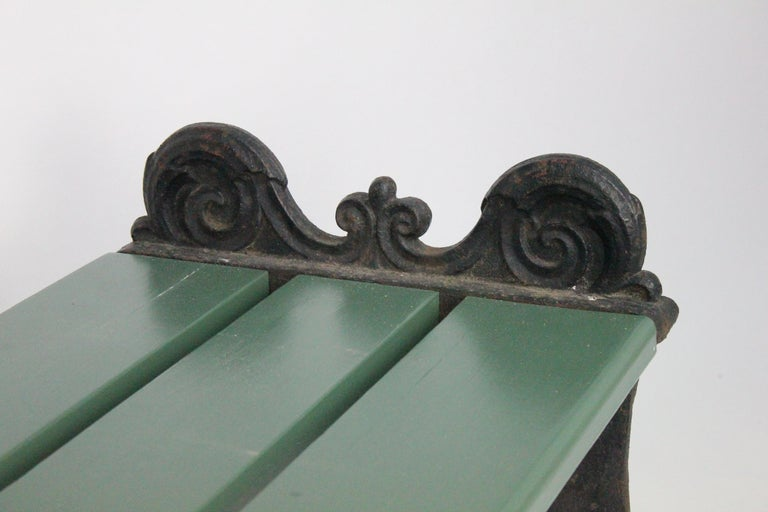 Swedish 1920s Cast Iron Park Bench Designed by Folke Bensow In Good Condition For Sale In Skanninge, SE