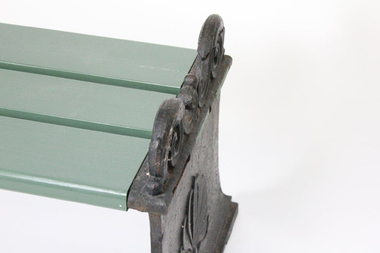 Swedish 1920s Cast Iron Park Bench Designed by Folke Bensow For Sale 2