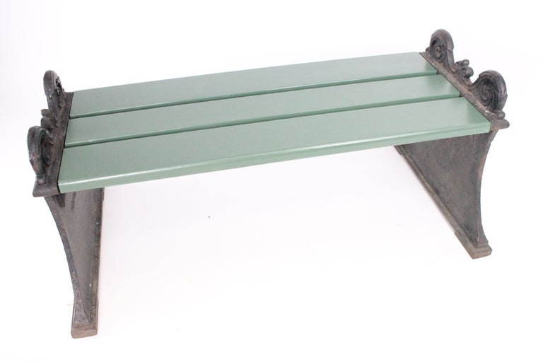 Swedish 1920s Cast Iron Park Bench Designed by Folke Bensow For Sale 4