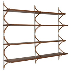 Swedish 1950s Bruno Mathsson Shelves in Pine and Brackets in Beech