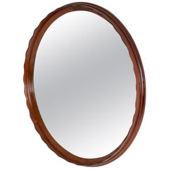 Swedish 1950s Mahogany Wall Mirror