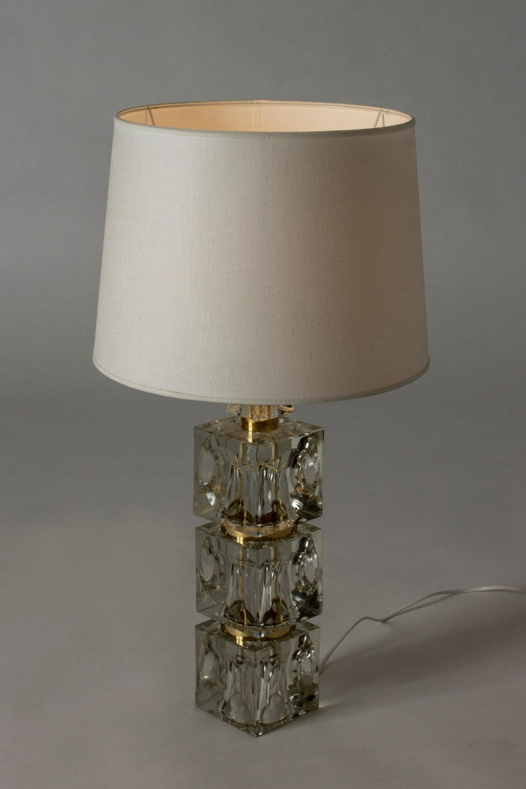 Scandinavian Modern Swedish 1960s Crystal Table Lamp For Sale