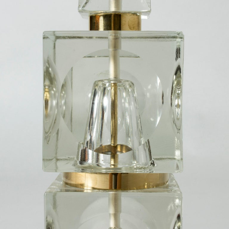 Swedish 1960s Crystal Table Lamp For Sale 1