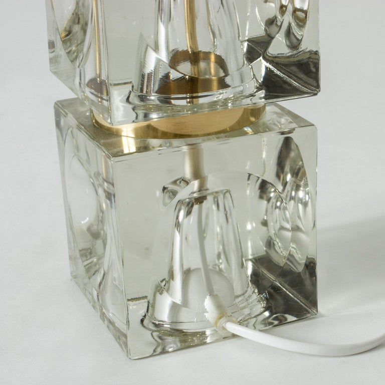 Swedish 1960s Crystal Table Lamp For Sale 2
