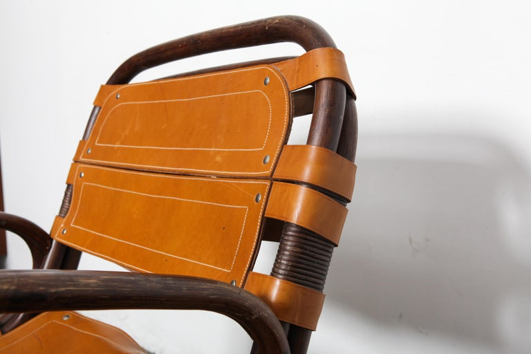 Swedish 1970s Bamboo and Leather Chair For Sale 5