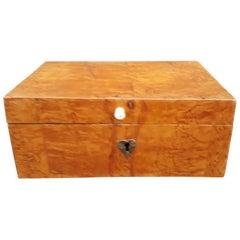 Swedish 19th Century Birchwood Veneer Jewelry Box