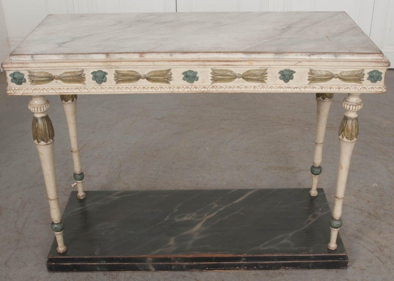 Swedish 19th Century Carved and Painted Console 4