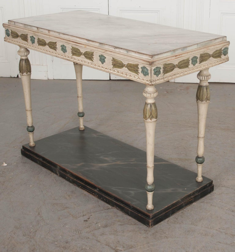Swedish 19th Century Carved and Painted Console 5