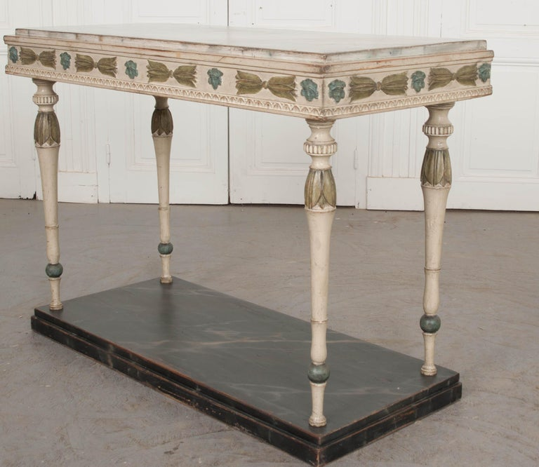 Swedish 19th Century Carved and Painted Console 6