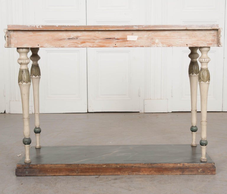 Swedish 19th Century Carved and Painted Console 9