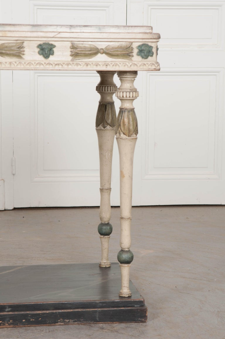 Gustavian Swedish 19th Century Carved and Painted Console