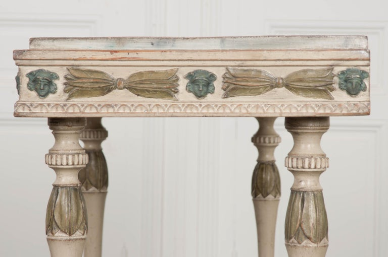 Swedish 19th Century Carved and Painted Console 1