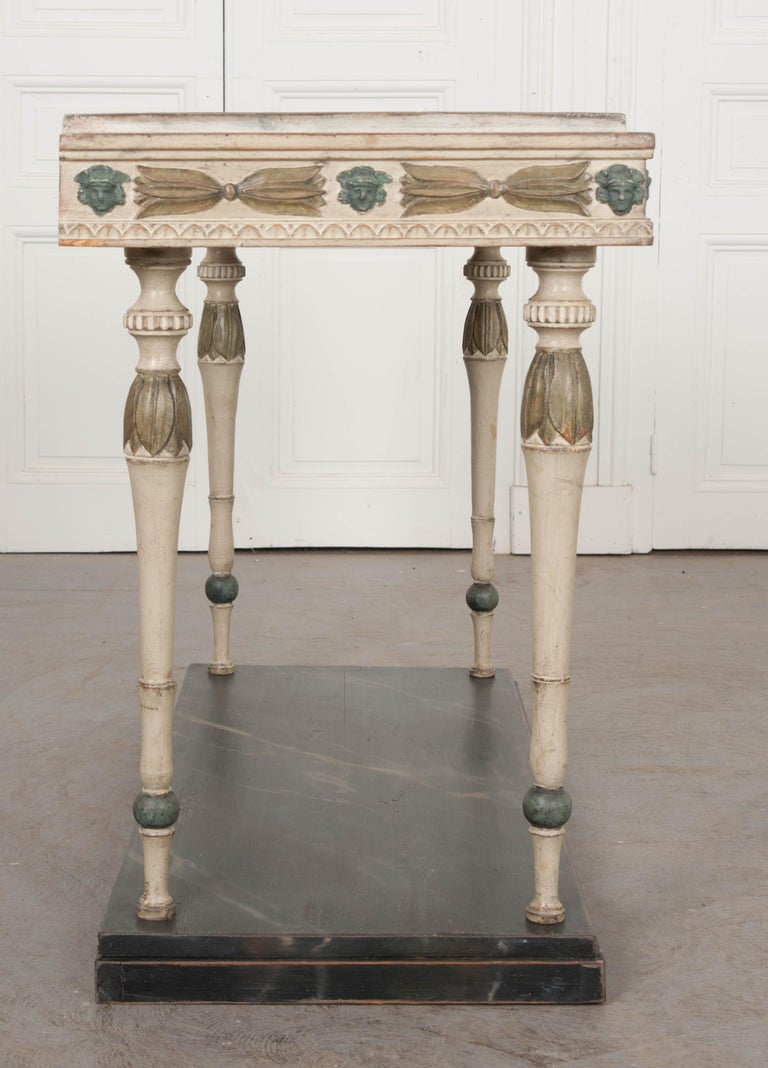 Swedish 19th Century Carved and Painted Console 2