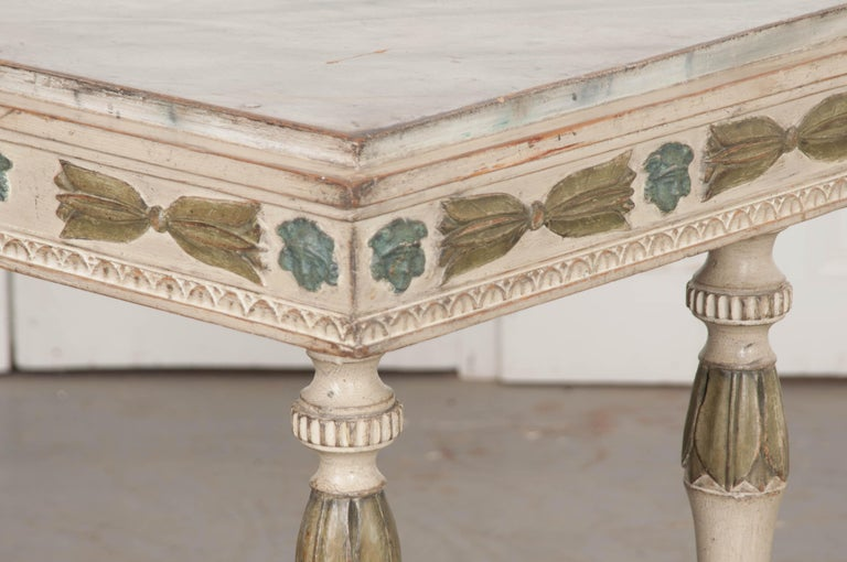 Swedish 19th Century Carved and Painted Console 3