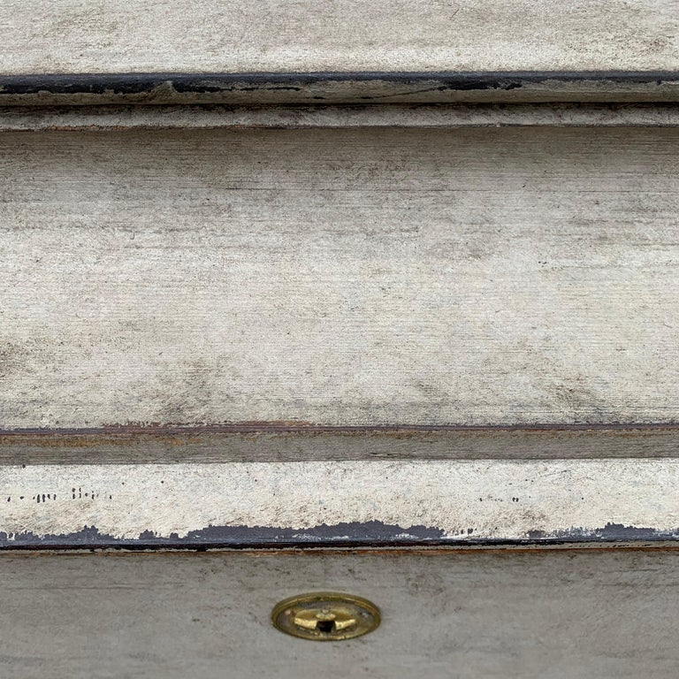 Swedish 19th Century Gray-Painted Gustavian Style Chest of Drawers For Sale 16