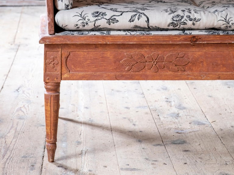 18th Century Swedish 19th Century Gustavian Sofa For Sale
