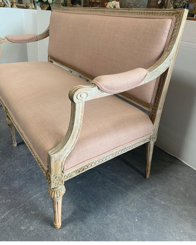 Wood Swedish 19th Century Gustavian Sofa