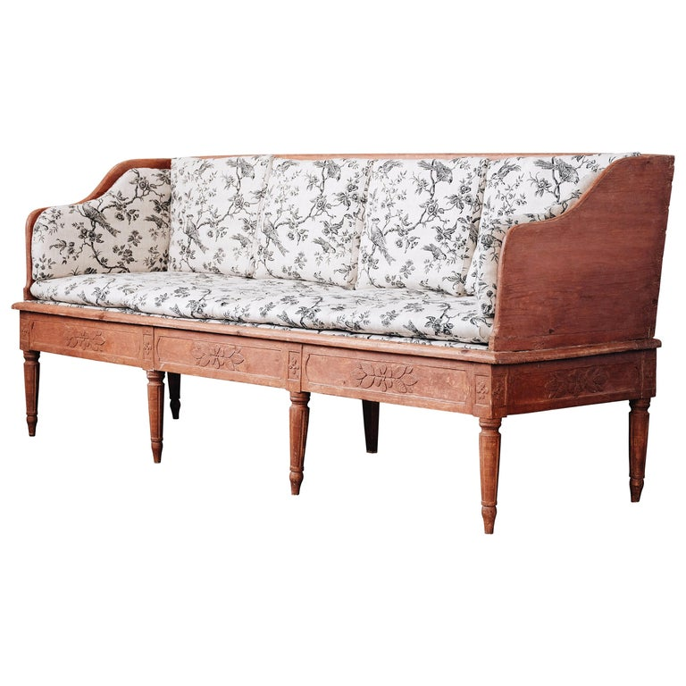 Swedish 19th Century Gustavian Sofa For Sale
