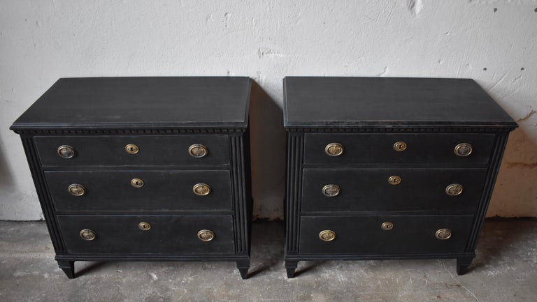 Swedish 19th Century Gustavian Style Chest of Drawers In Good Condition For Sale In Helsingborg, SE