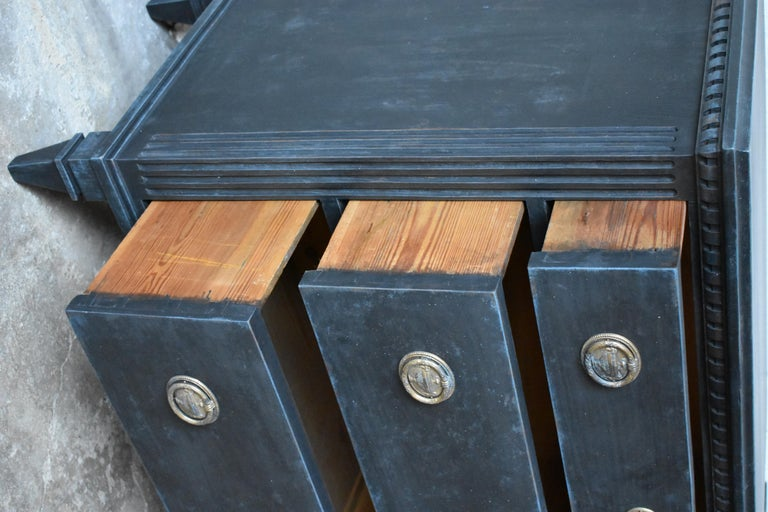 Wood Swedish 19th Century Gustavian Style Chest of Drawers For Sale