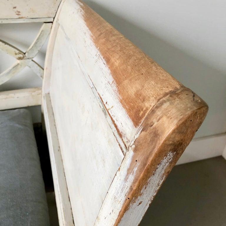 Swedish 19th Century Gustavian Style Long Sofa Settee For Sale 1