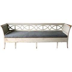 Swedish 19th Century Gustavian Style Long Sofa Settee
