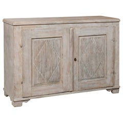 Swedish 19th Century Gustavian Style Painted Sideboard with Diamond Motifs