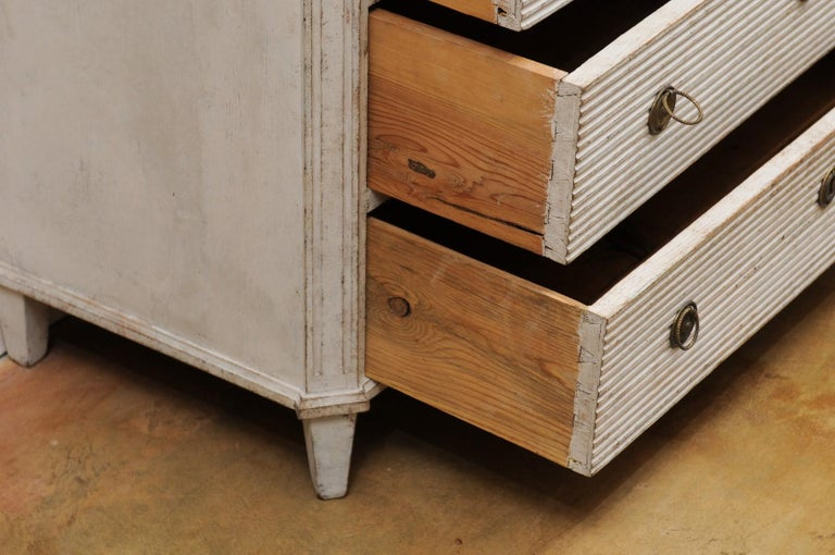 Swedish 19th Century Gustavian Style Painted Wood Drop-Front Secretary For Sale 7