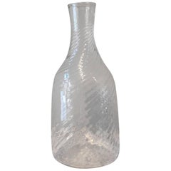 Swedish 19th Century Handblown Turned Glass Carafe, Origin, Sweden