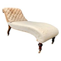 Swedish 19th Century Napoleon III Un-Upholstered Daybed