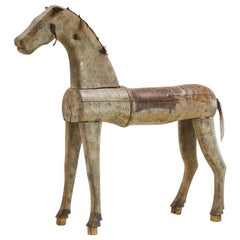 Swedish 19th Century Painted Carved Wooden Horse