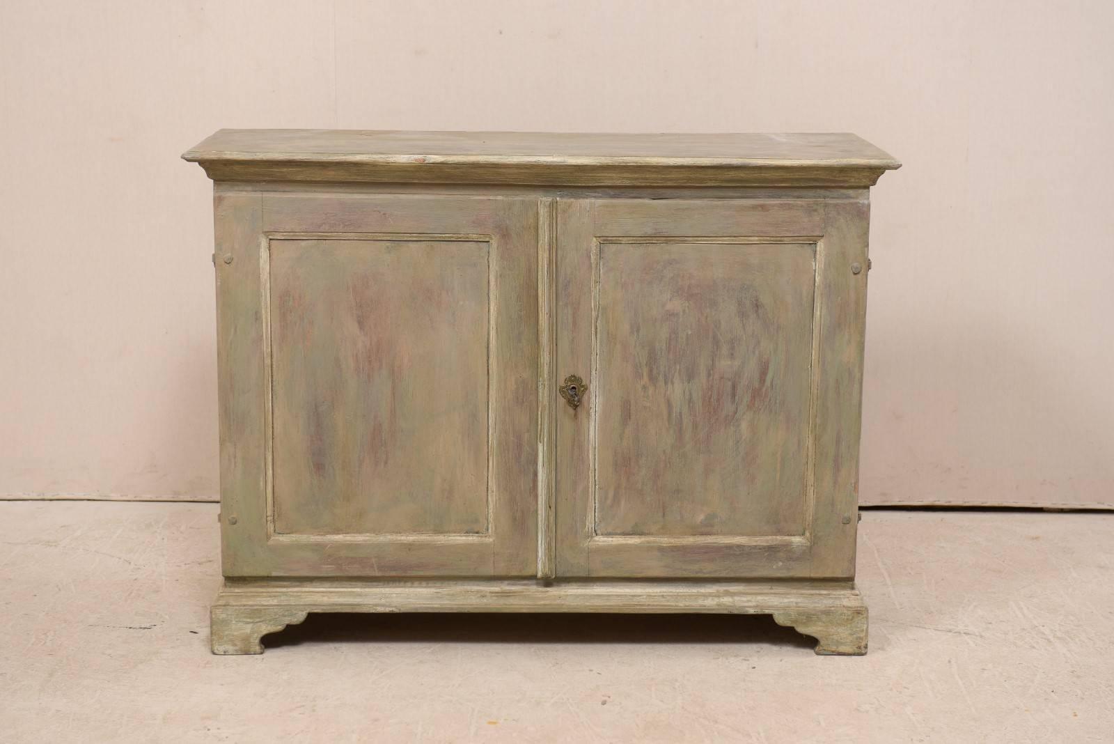 swedish 19th century painted wood two door buffet cabinet in soft rh 1stdibs com knightsbridge 2-door 3-drawer buffet cabinet two door buffet cabinet