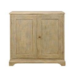 Swedish 19th Century Painted Wood Two-Door Buffet