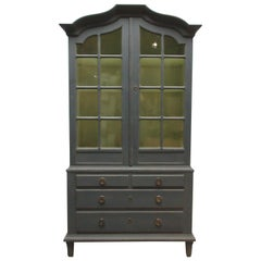 Swedish 2-Door Glass Top Hutch