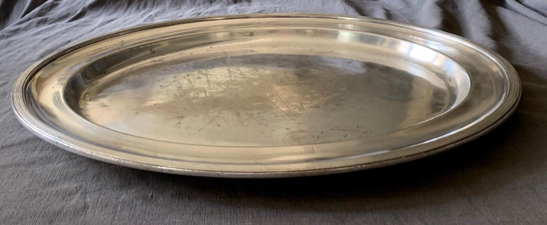 20th Century Swedish American Line Large Silver Plated Tray For Sale