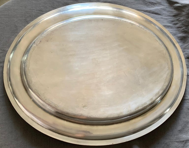 Swedish American Line Large Silver Plated Tray For Sale 1
