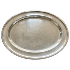 Swedish American Line Large Silver Plated Tray