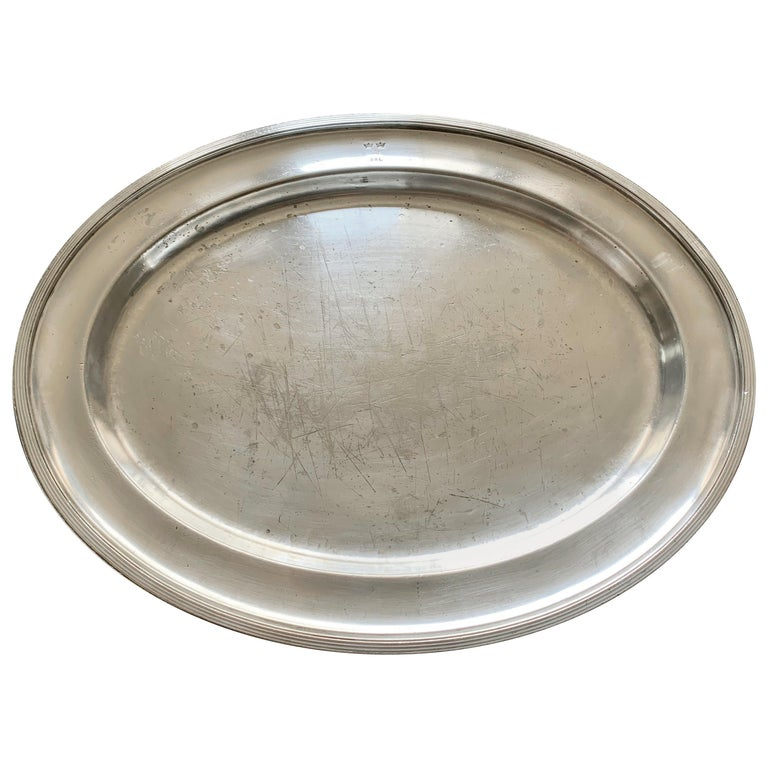 Swedish American Line Large Silver Plated Tray For Sale