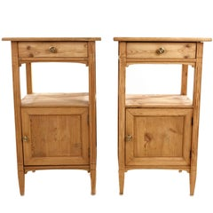 Swedish Antique Bed Side Tables, Gustavian