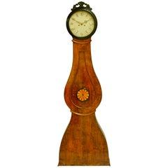Swedish Antique Mora Clock Biedermeier Carved Detail Ormolu 1800s French Polish