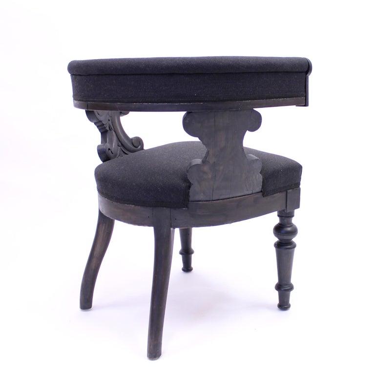 Swedish Antique Oak Klismos Chair, Late 19th Century For Sale 5
