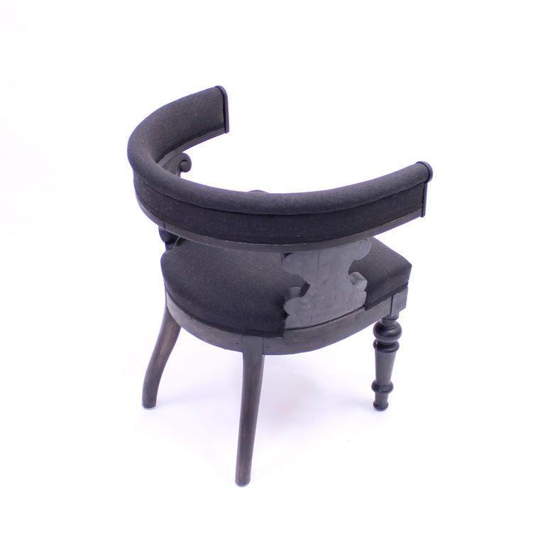 Swedish Antique Oak Klismos Chair, Late 19th Century For Sale 6