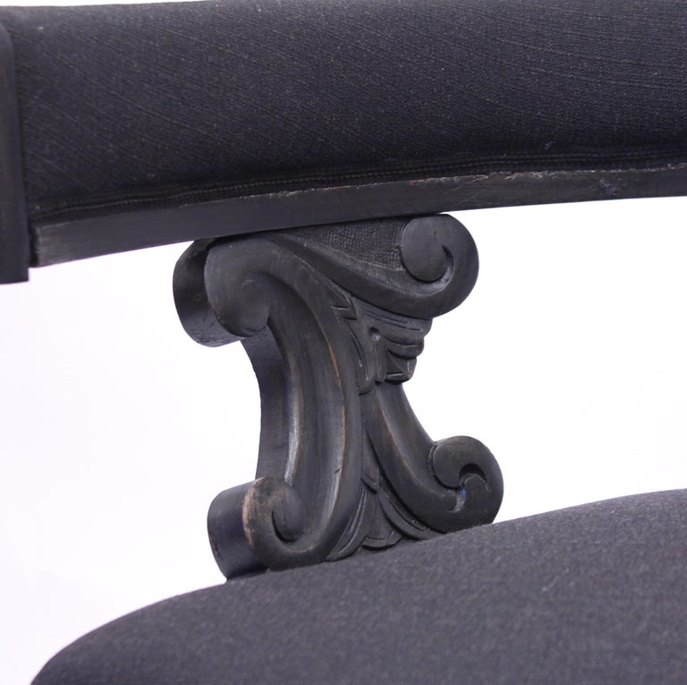 Swedish Antique Oak Klismos Chair, Late 19th Century For Sale 8