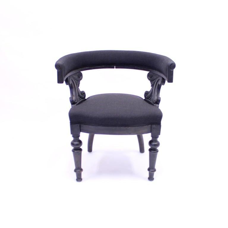Rustic Swedish Antique Oak Klismos Chair, Late 19th Century For Sale