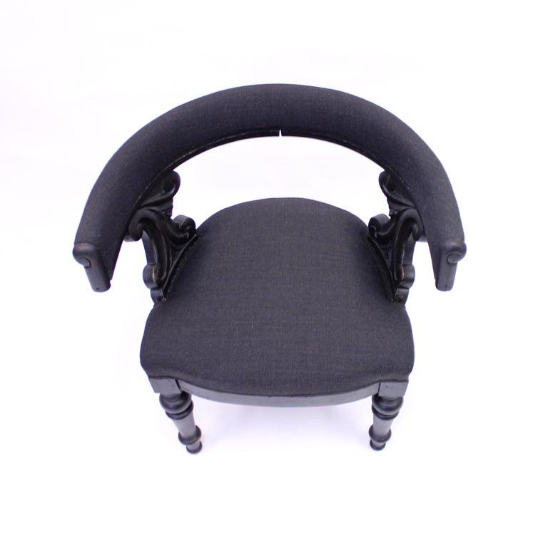 Swedish Antique Oak Klismos Chair, Late 19th Century For Sale 1