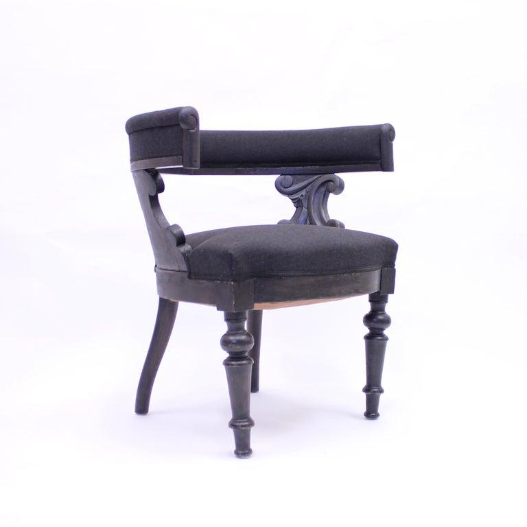 Swedish Antique Oak Klismos Chair, Late 19th Century For Sale 2