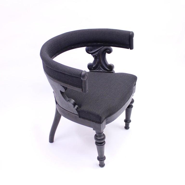 Swedish Antique Oak Klismos Chair, Late 19th Century For Sale 3