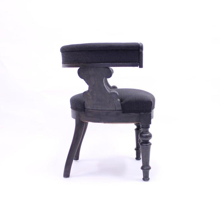 Swedish Antique Oak Klismos Chair, Late 19th Century For Sale 4